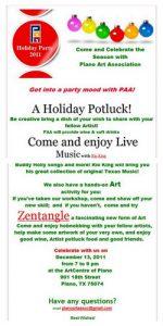 Plano Art Association Holiday Party 2011