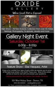 Invitation for the Gallery Night at OXIDE Gallery…