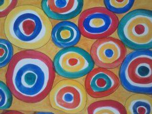Art Journaling – Bright Circles