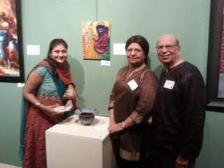 Me with my art and my supporters..