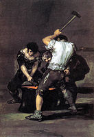 Francisco Goya, The Forge... Goya is yet another inspiring oil painter, stunning works..