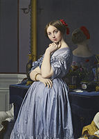 This yet another stunning painting from the collection by Jean Auguste Dominique Ingres, Louise de Broglie.