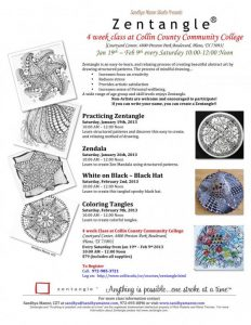 2013- 4 week Zentangle at Collin College