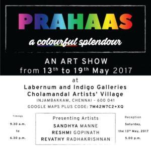 Invite for PRAHAAS – An Art Exhibit