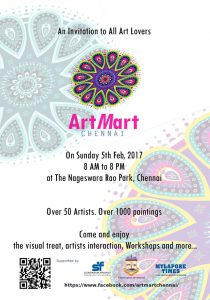 Invite for Art Mart Chennai 2017