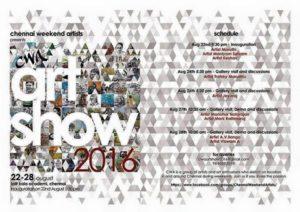 Invite for CWA Art Show 2016