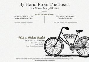 "Invite to the ""Art Group Show and Makers Market"" by BHFTH event"