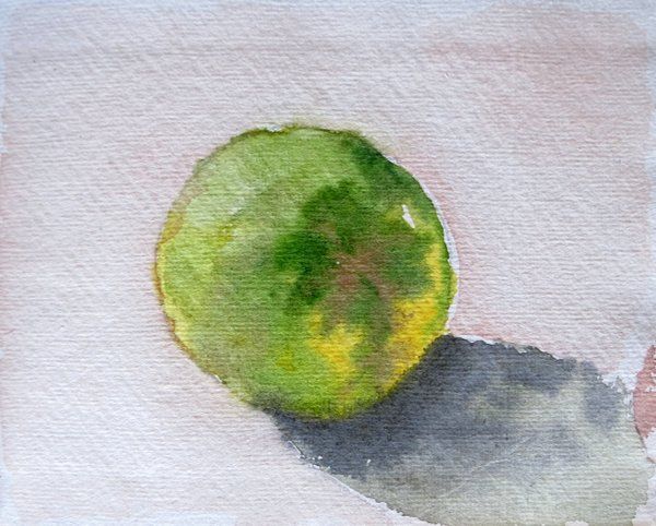 """""""Orange View 3""""...Watercolors....5x6 inches...©SandhyaManne"""