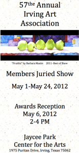 57th Annual IAA Member show Invitation
