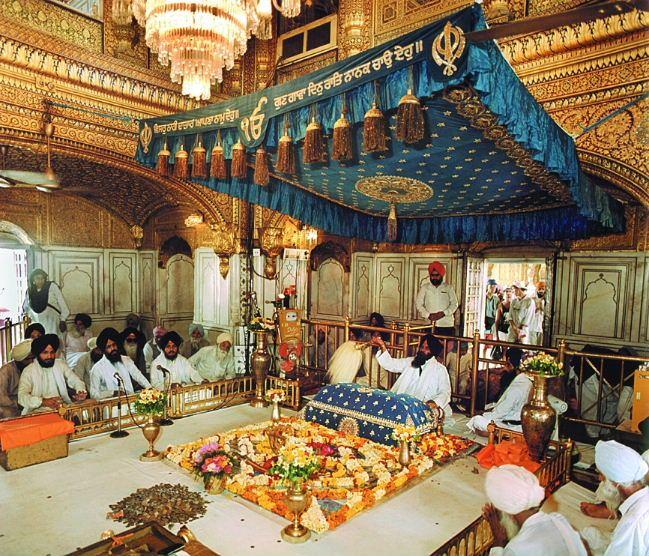 Inside the Gurdwara..Guru Granth Sahib