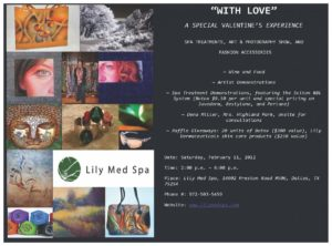 """Invitation to """"WITH LOVE"""" A Special Valentine's Experience"""