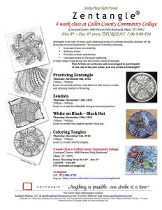 4 week Zentangle at Collin College