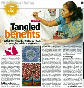 Article about Zentangle and me..