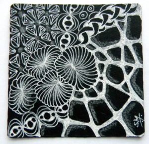 March Zentangle Advance – White on Black Workshop