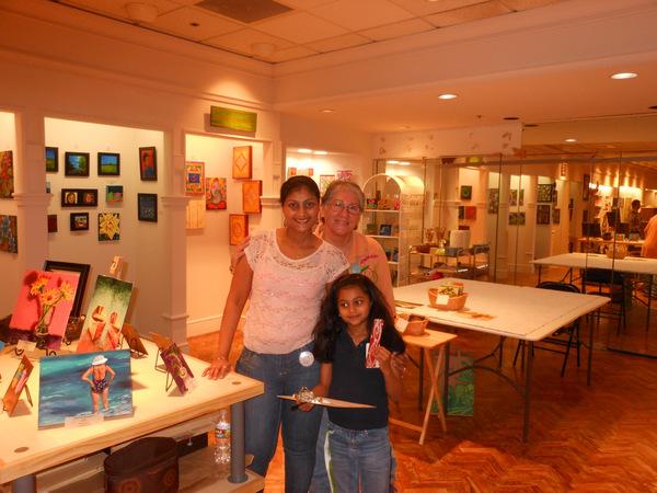 With Brandi Cooper...my studio neighbor...