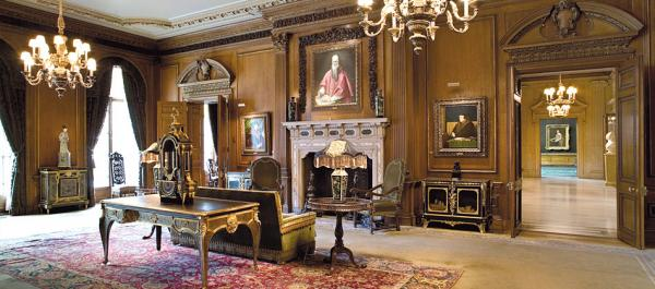 One of the rooms at the house.. all the rooms have been maintained just as it was in Frick's day