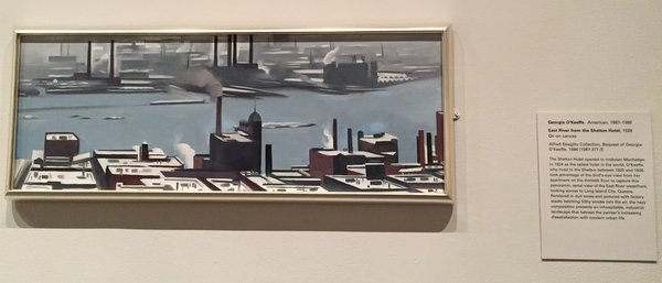 Georgia O'Keeffe, American, 1887-1986East River from the Shelton Hotel, 1928