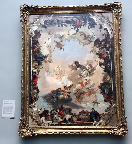© Giovanni Battista Tiepolo...... was another love I discovered at Met....  his use of colors and the complexity of his compositions were amazing...