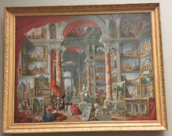 © Giovanni Paolo Panini ... Paintings in a painting ...mind blowing!!