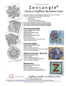 2012 Fall Zentangle Class at Huffhines
