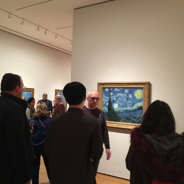 and there there it was..... the star of the show... in full security... can go only upto 2 feet close to this painting...