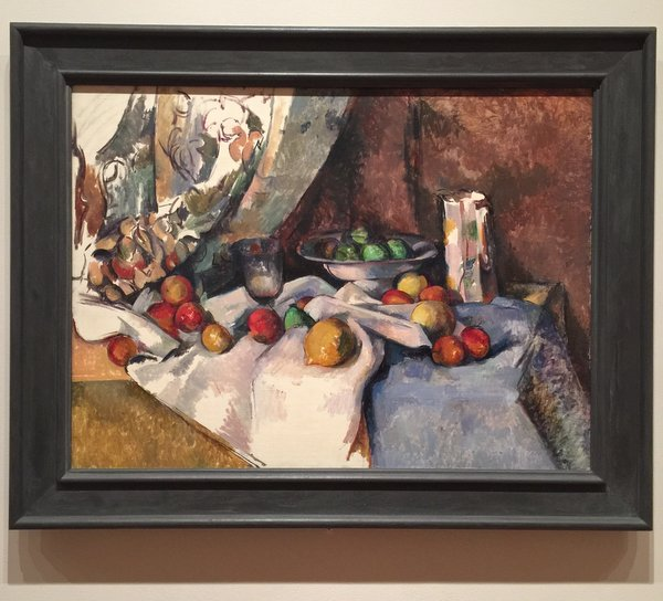 Still Life with Apples Oil on Canvas Paul Cezanne (French 1839-1906) Such fun colors!