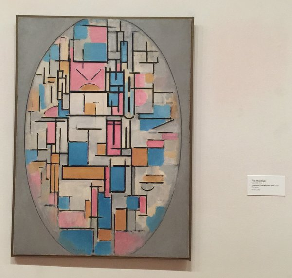 Composition in Oval with Color Planes 1 Oil on Canvas Piet Mondrian (Dutch 1872-1944)