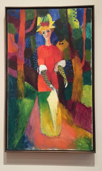 Lady in a Park Oil on Canvas August Macke (German 1887-1914) I loved those bright happy colors..