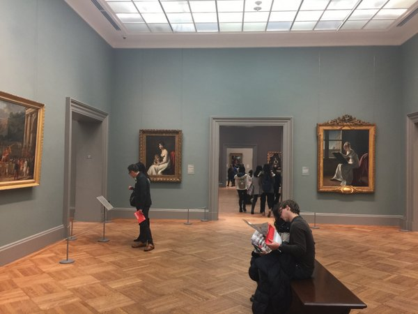 view of the galleries in this section... it was like a maze...each gallery leading to 2-3 other galleries.... well there was no way I saw all of those 2700 paintings at the Robert Lehman Collection..