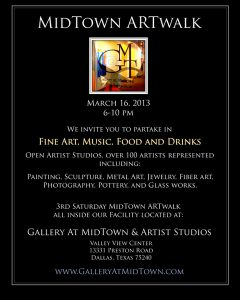 March ART WALK at MIDTOWN GALLERY