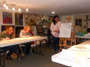 Febraury Zentangle Basics Workshop Pictures