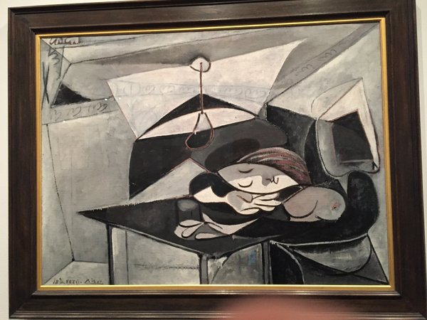 © Pablo Picasso .... another painting of Marie now a new mother asleep at the table... probaly exhusted...
