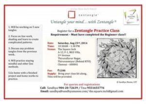 Zentangle Practice Workshop on Aug 23rd 2014