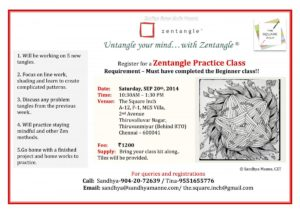 Practice Zentangle Workshop on SEP 20th 2014