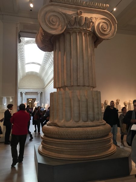 Marble column from the Temple of Artemis at Sardis