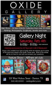 Invitation to OXIDE's February Gallery Night