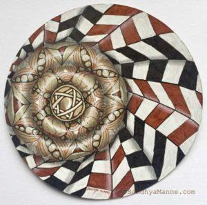 Zentangle with tangle Jonqal