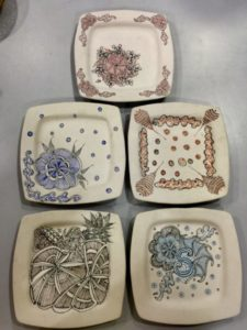 ZENTANGLE ON CERAMIC