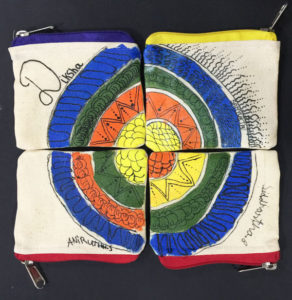 Kids play on Canvas Pouch