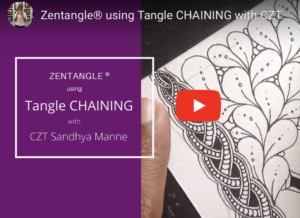 VIDEO-Tangle-CHAINING BY CZT SANDHYA MANNE