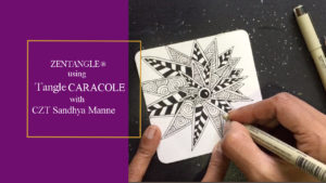 VIDEO-TANGLE CARACOLE BY CZT SANDHYA MANNE