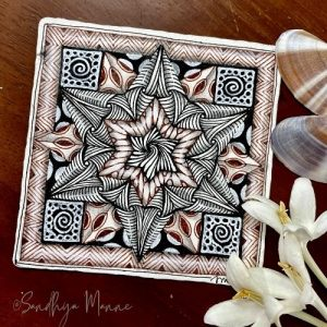 Day 2 of ORNATE SQUARE with String 2, 31 Days of Zen!