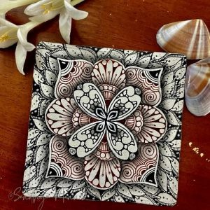Day 4 of ORNATE SQUARE with String 4, 31 Days of Zen!